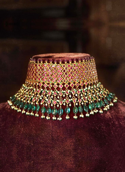 Sabya- Choker Necklace Prateek Jewellers